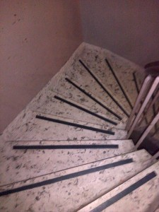 Stair Cleaning Before