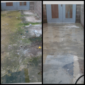 Power Washing Before & after