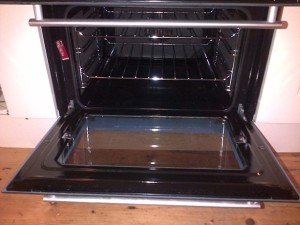 oven after cleaning